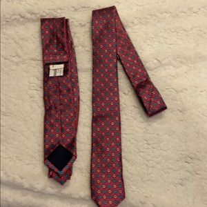David Fin Pink Tie with Flowers